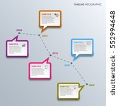 time line info graphic with... | Shutterstock .eps vector #552994648