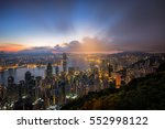 cityscape from top view before... | Shutterstock . vector #552998122