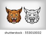 wild lynx head   Shutterstock .eps vector #553010032