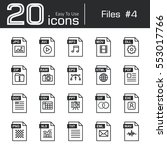 files icon set 4   jpg . avi .... | Shutterstock .eps vector #553017766