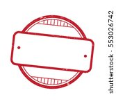 blank empty stamp badge tag in... | Shutterstock .eps vector #553026742