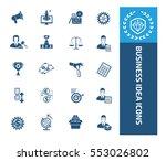 business icon set vector | Shutterstock .eps vector #553026802