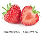 strawberry isolated on white... | Shutterstock . vector #553029676