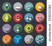 jewelry icon set | Shutterstock .eps vector #553032382