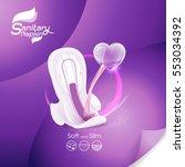 sanitary napkin vector... | Shutterstock .eps vector #553034392