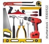 set of different tools over... | Shutterstock . vector #55303522