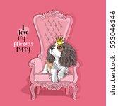 cavalier king charles spaniel... | Shutterstock .eps vector #553046146