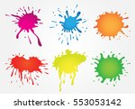 paint splatters set.vector... | Shutterstock .eps vector #553053142