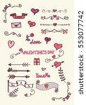 set of hand drawn color doodles ... | Shutterstock .eps vector #553077742