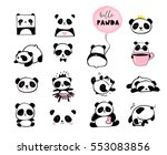cute panda bear illustrations ... | Shutterstock .eps vector #553083856