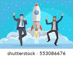 business people are very happy  ... | Shutterstock .eps vector #553086676