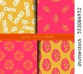 set of four eastern seamless...   Shutterstock .eps vector #553086952