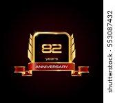 82 years gold anniversary... | Shutterstock .eps vector #553087432