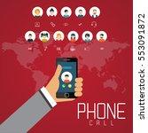 social network technology of... | Shutterstock .eps vector #553091872