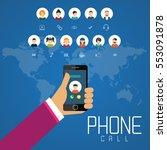 social network technology of... | Shutterstock .eps vector #553091878