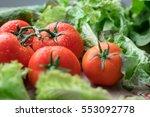 Bright Juicy Tomatoes Shot...