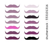 vector set of purple shades... | Shutterstock .eps vector #553101316