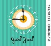 watch scrambled eggs. breakfast ... | Shutterstock .eps vector #553107562
