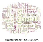 ethics and morales word or tag... | Shutterstock . vector #55310809