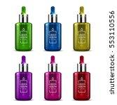 a set of  beauty serum dropper... | Shutterstock .eps vector #553110556