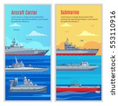 military ships vertical banners ... | Shutterstock .eps vector #553110916