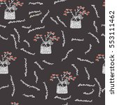 vector floral seamless pattern... | Shutterstock .eps vector #553111462