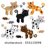 vector collection of cute and... | Shutterstock .eps vector #553115098