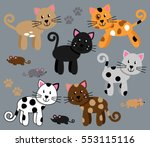 vector collection of cute and... | Shutterstock .eps vector #553115116
