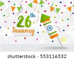 happy indian republic day... | Shutterstock .eps vector #553116532