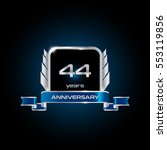 44 years silver anniversary...   Shutterstock .eps vector #553119856