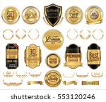 luxury retro badge and labels... | Shutterstock .eps vector #553120246