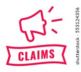 claims. ribbon and megaphone... | Shutterstock .eps vector #553124356