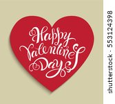 happy valentine's day.... | Shutterstock .eps vector #553124398