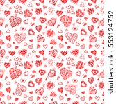 valentines day seamless pattern.... | Shutterstock . vector #553124752