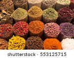 spices and herbs being sold on... | Shutterstock . vector #553125715