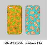 mobile phone case design.... | Shutterstock .eps vector #553125982