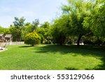 children's wooden playground... | Shutterstock . vector #553129066