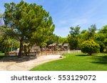 children's wooden playground... | Shutterstock . vector #553129072