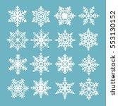 snowflakes set beautiful snow... | Shutterstock .eps vector #553130152