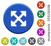 resize full alt round color...   Shutterstock .eps vector #553130338