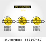 yellow linear infographic... | Shutterstock .eps vector #553147462