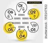 yellow hexagonal infographic... | Shutterstock .eps vector #553147522