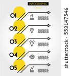 yellow linear five options with ... | Shutterstock .eps vector #553147546