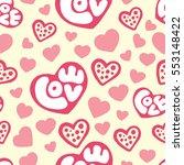 hearts seamless pattern... | Shutterstock .eps vector #553148422