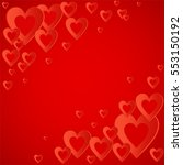 valentines red background with... | Shutterstock .eps vector #553150192