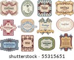 set of vintage  labels | Shutterstock .eps vector #55315651