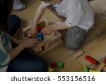 brother sister spend time... | Shutterstock . vector #553156516