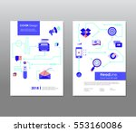 annual report brochure flyer... | Shutterstock .eps vector #553160086