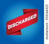 discharged arrow tag sign. | Shutterstock .eps vector #553166425