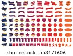 ribbon banner label red vector... | Shutterstock .eps vector #553171606